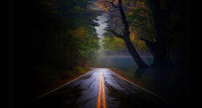 Joplin Spook Light - Road At Night