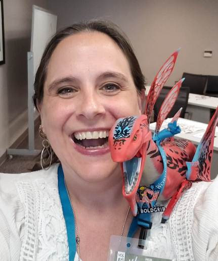 Me and Boldie The Dragon WordCamp 2018 Fayetteville, AR