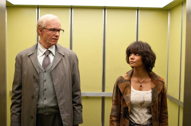 "(L-r) JAMES D'ARCY as old Rufus Sixsmith and HALLE BERRY as Luisa Rey in the epic drama ""CLOUD ATLAS,"" distributed domestically by Warner Bros. Pictures and in select international territories."