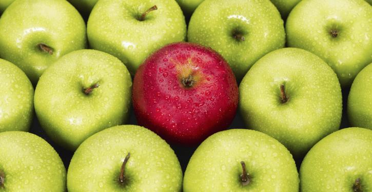 Apel-beda-warna