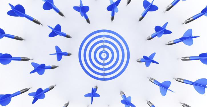 Dart arrows missing target