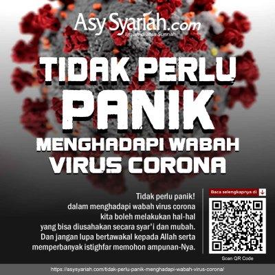 Tidak Perlu Panik Menghadapi wabah virus corona