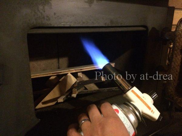 薪ストーブ 着火前の空気循環