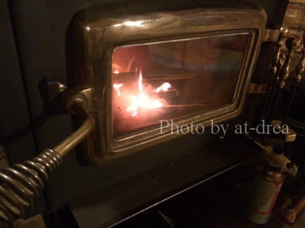 薪ストーブ 燃焼始め