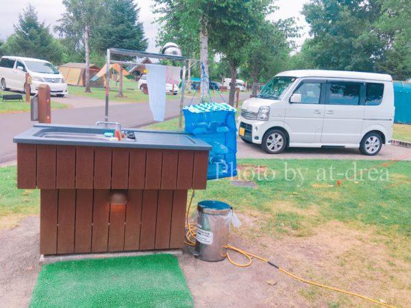上富良野 日の出公園オートキャンプ場 サイト設備