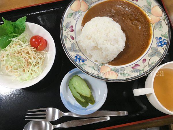 十和田湖バックパッカーズ 夕食メニュー カレー