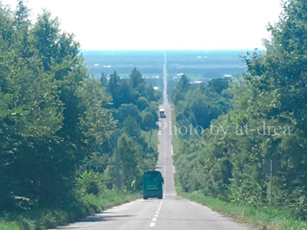 斜里町天に続く道