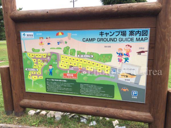 瀬戸内東予シーサイドキャンプ場 サイト案内図