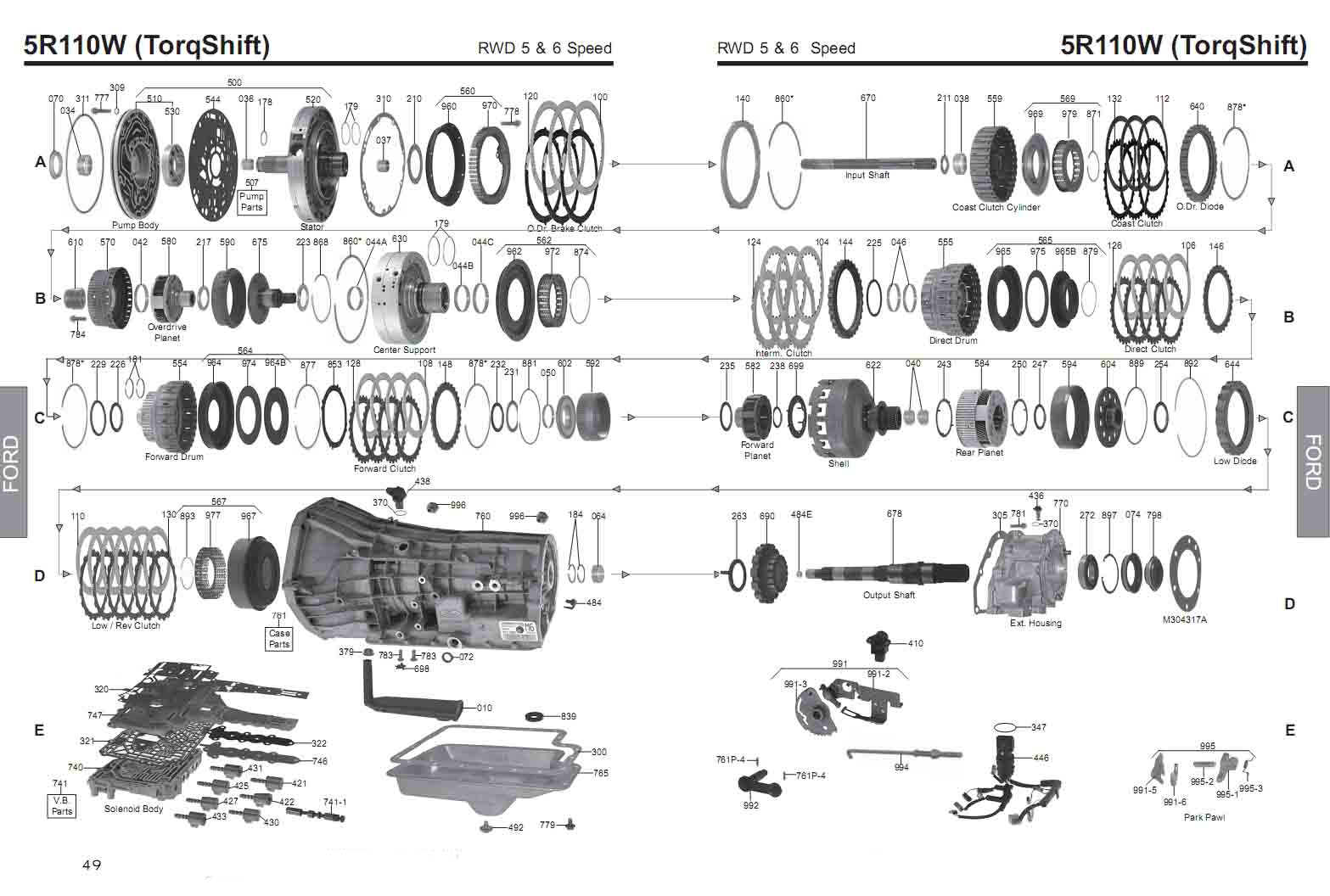 Transmission Repair Manuals 5r110w
