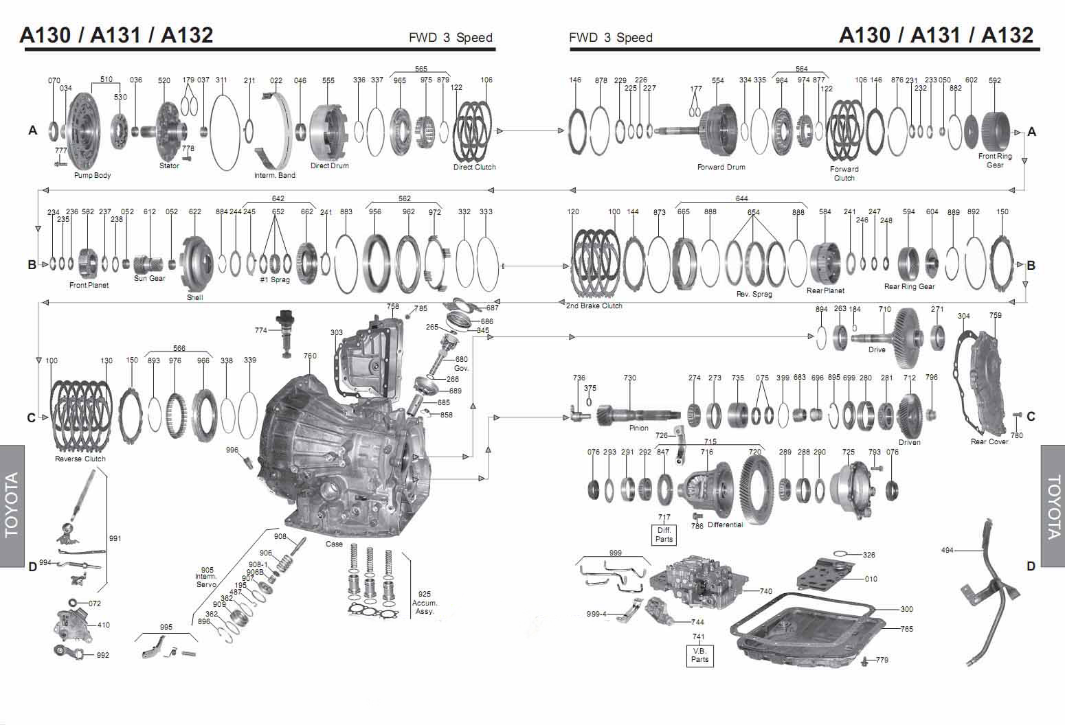 Transmission Repair Manuals A130 A131l A132l