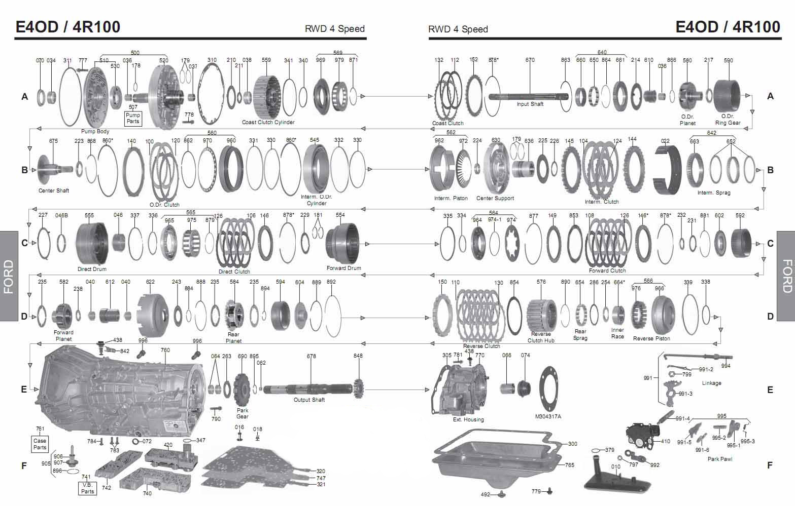 Transmission Repair Manuals 4r100 E4od