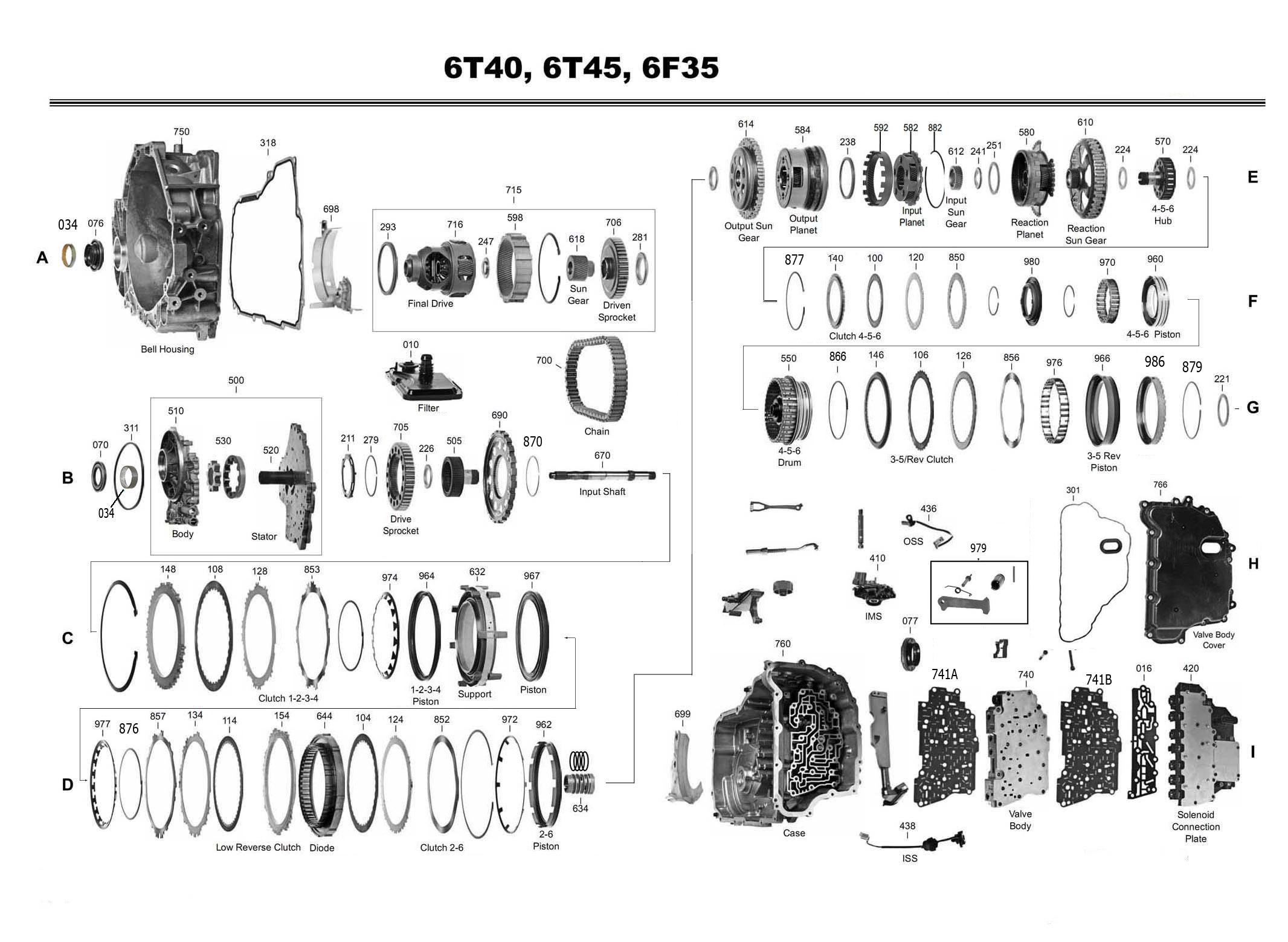Transmission Repair Manuals Gm 6t45