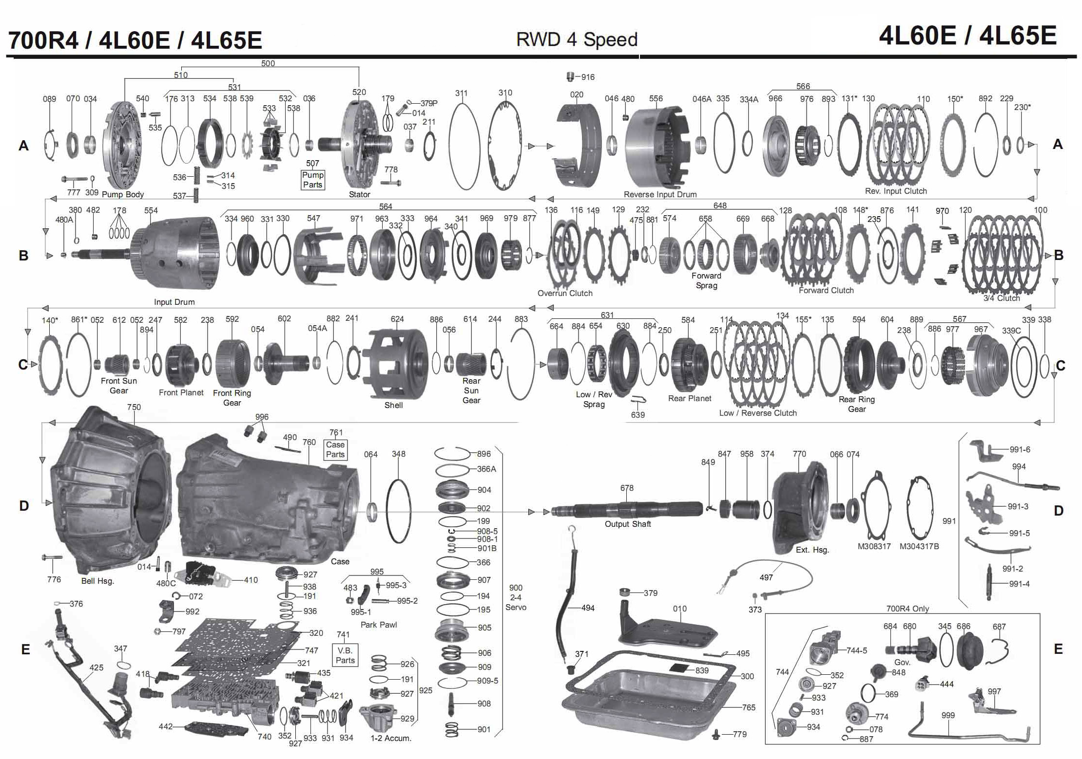 Transmission Repair Manuals 700r4 4l60e 4l65e