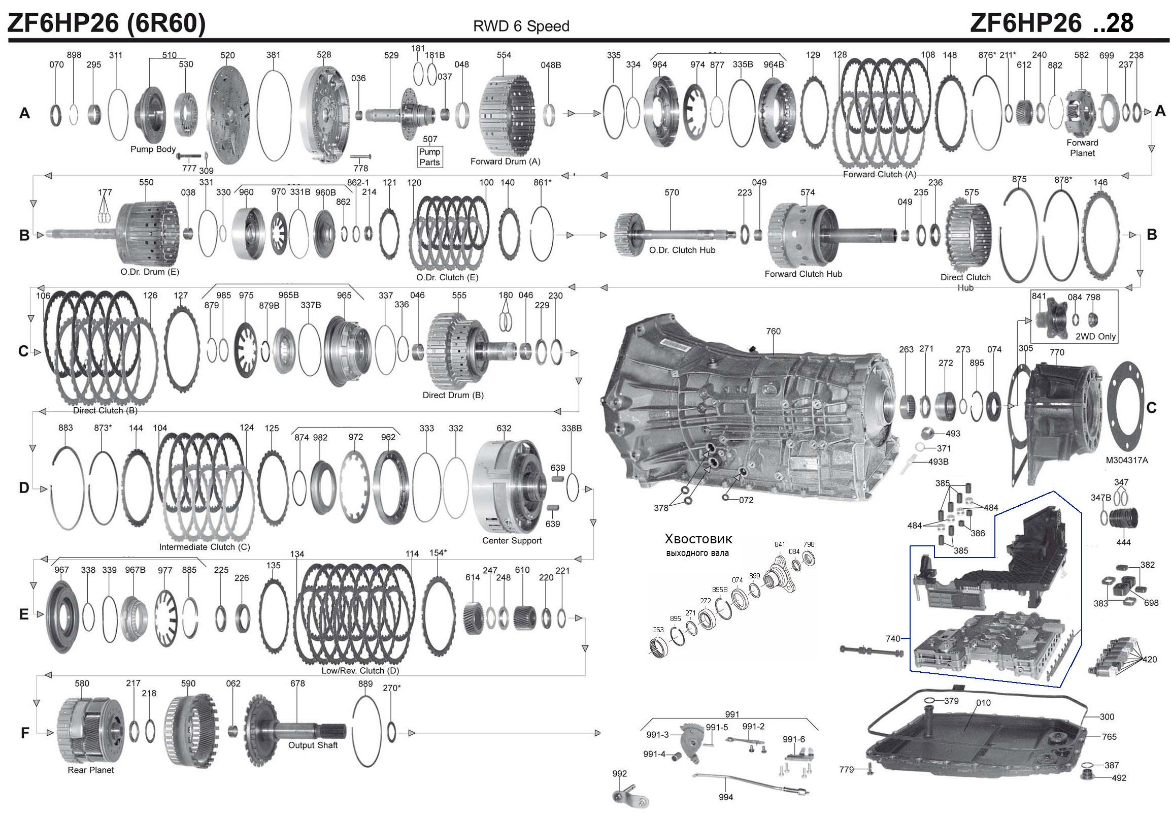 Transmission Repair Manuals Zf6hp26 09e 6r60