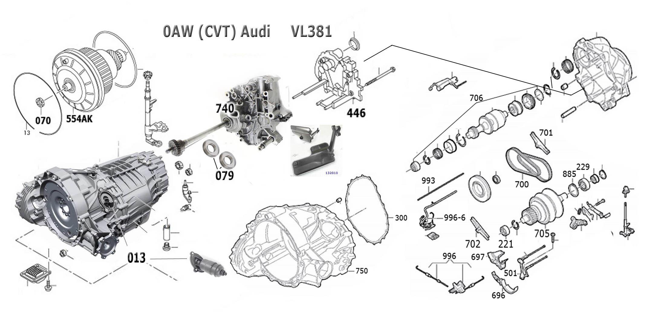 Transmission Repair Manuals Cvt Audi 0aw Vl381