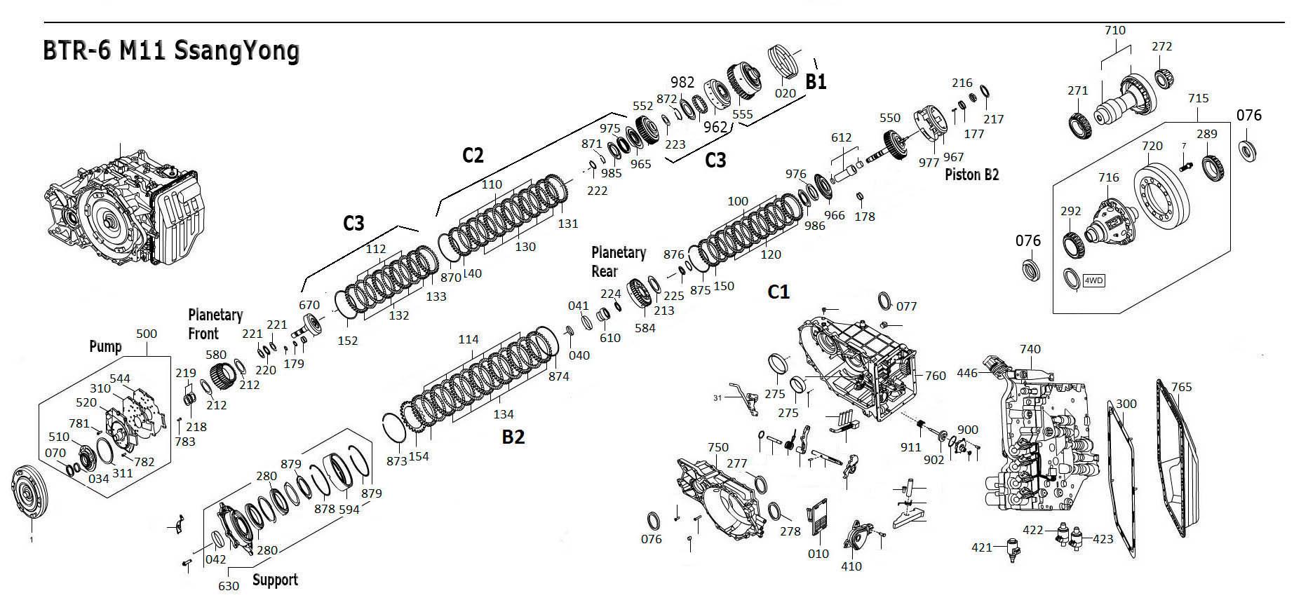 Btr M11 Transmission Repair Manuals Dsi 6