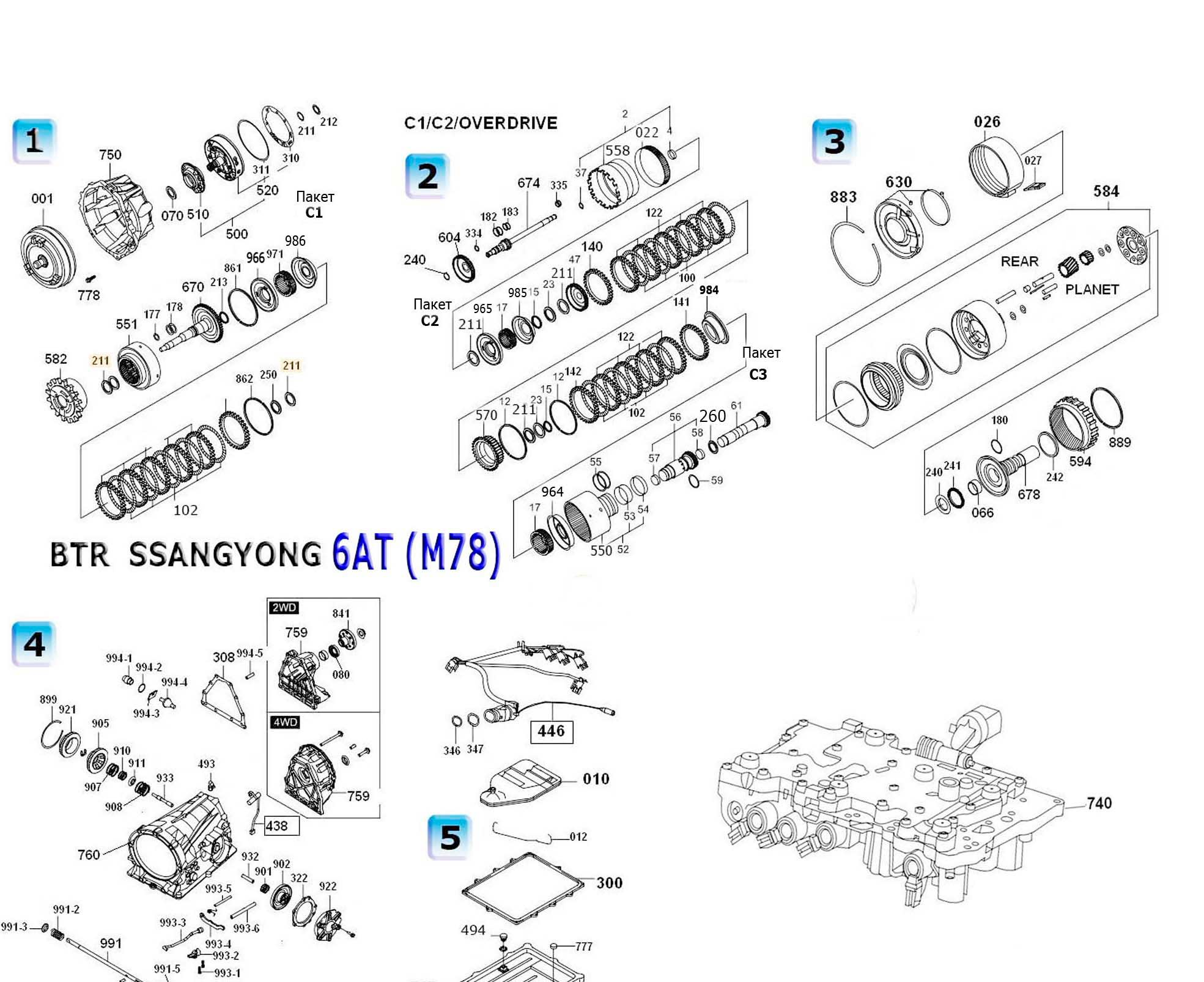 Transmission Repair Manuals Btr M78 Dsi