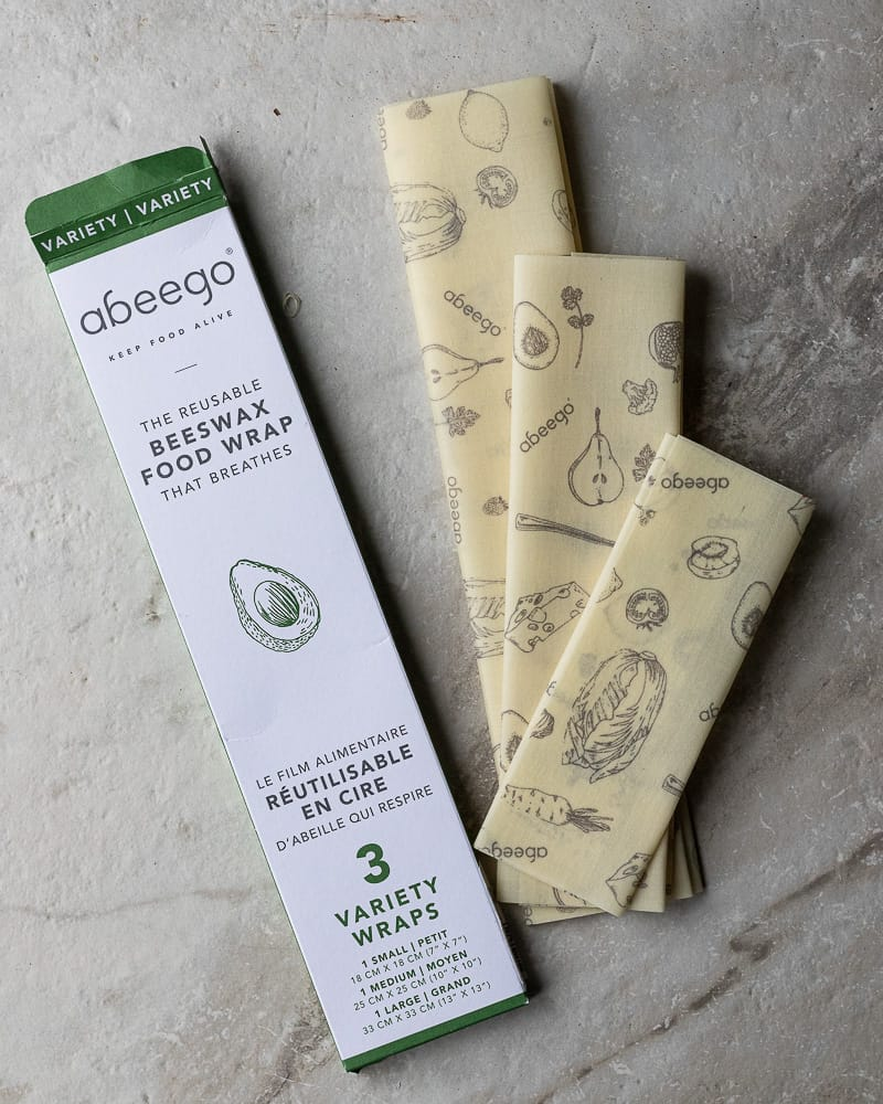 reusable wax paper from Abeego on a white background