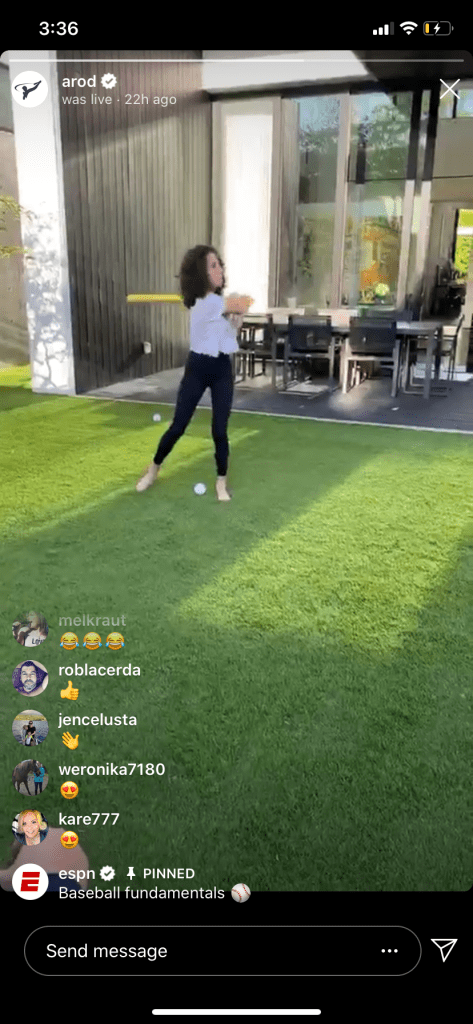 a-rod puts on instagram live baseball clinic with his and jlo's daughters   as a result, legendary and retired baseball player alex rodriguez decided to put on a virtual baseball clinic in his and jennifer lopez's backyard.