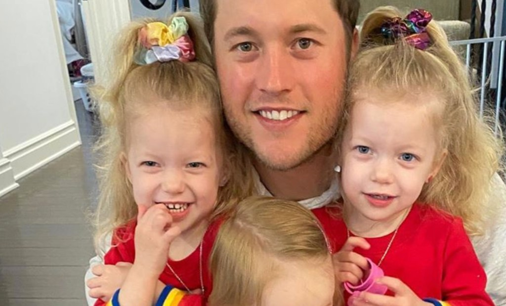 Matt Stafford's Twin Daughters Ace Snack Challenge In the Most Adorable Way