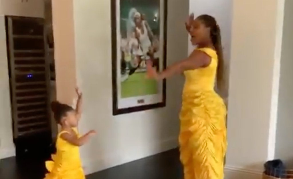 Tennis Star Serena Williams and Her Daughter Olympia Are 'Keeping Busy' In the Most Adorable Way Possible