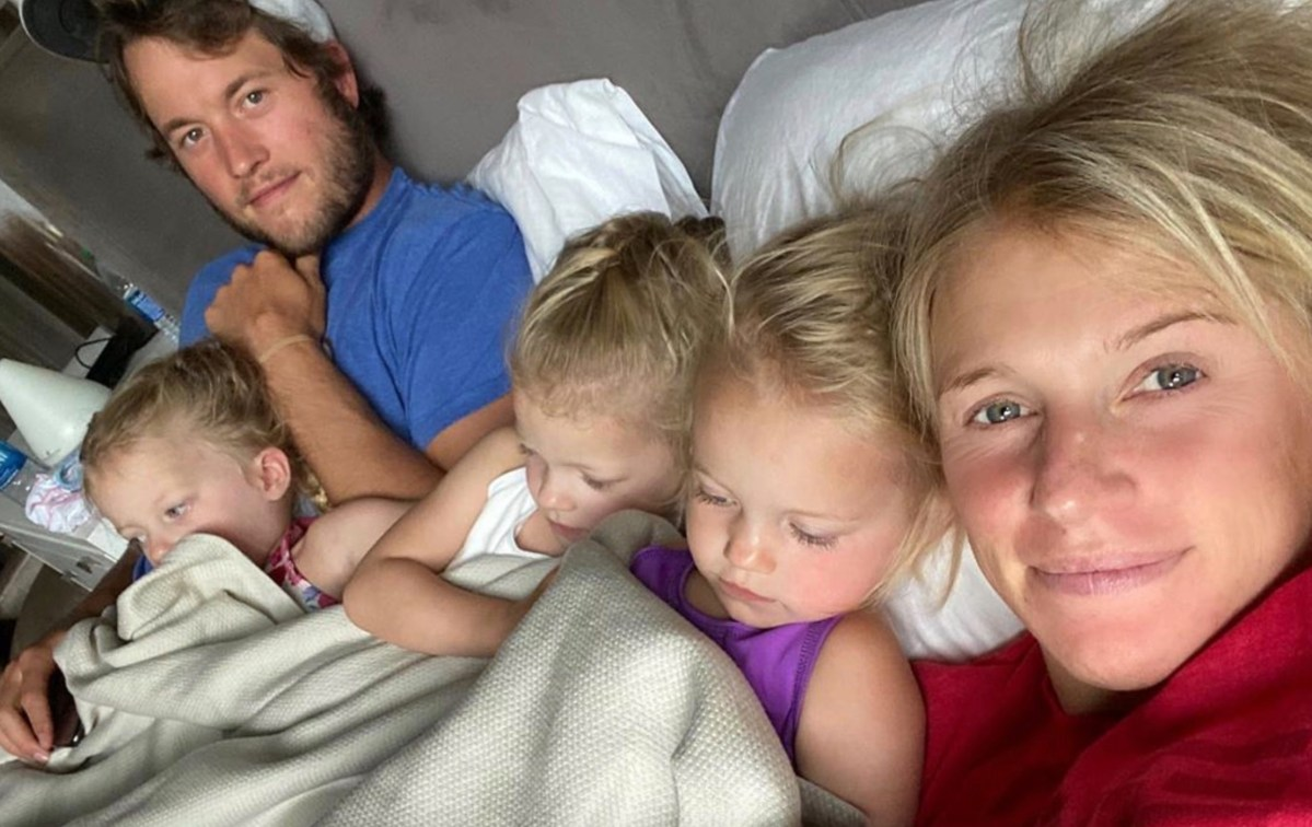 Lions Quarterback Matthew Stafford and Wife Kelly Stafford Welcome Their Fourth Child One Year After Her Brain Surgery