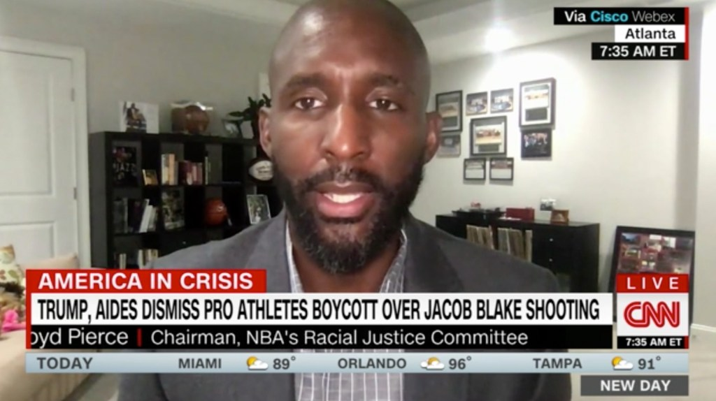 Hawks Coach Lloyd Pierce Responds to the Criticism of How the NBA Has Protested Police Brutality