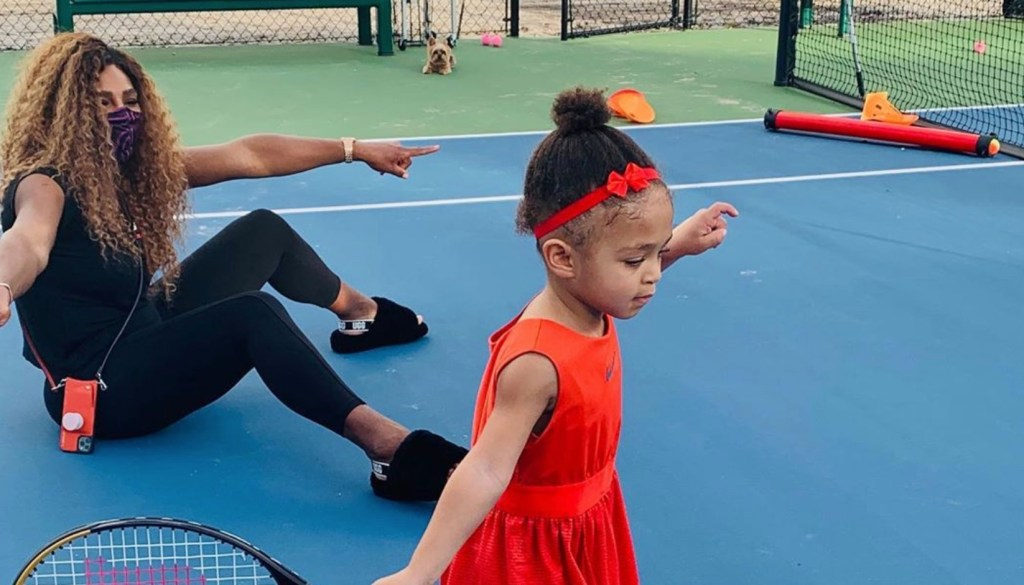 Serena Williams' Daughter Has Officially Started Tennis Lessons, And No Her Mom Isn't Olympia's Instructor