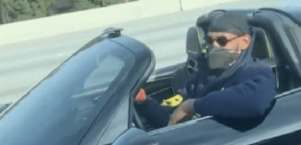 LeBron Cruisin' On A LA Highway In A Rare, Limited-Edition Convertible
