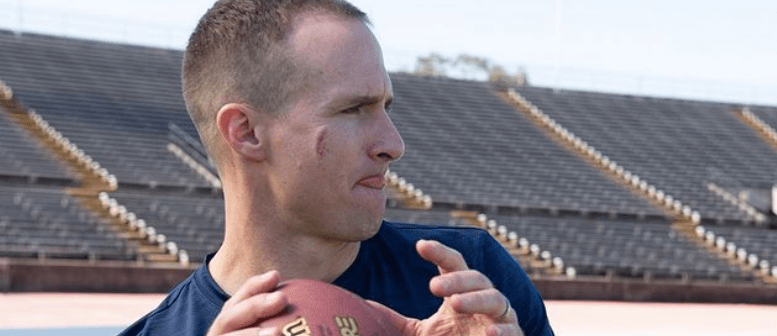 Watch This: To Retire Or Not To Retire, That's The True Question It Seems When It Comes To Drew Brees – Todd Durkin, owner of Fitness Quest 10 in San Diego, posted a video of Drew Brees training with fellow NFL quarterback Chase Daniel. The quarterbacks faced off in a little competition with pushing a sled.