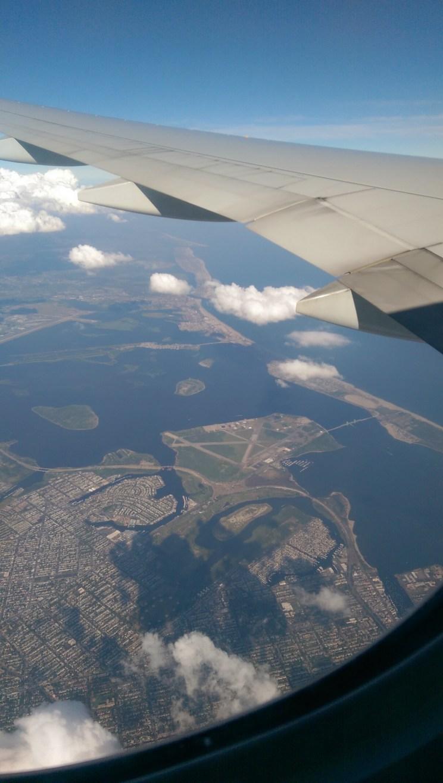 Uçagın penceresinden New York