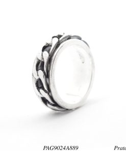 Anel prata 925 giratório com elos-0