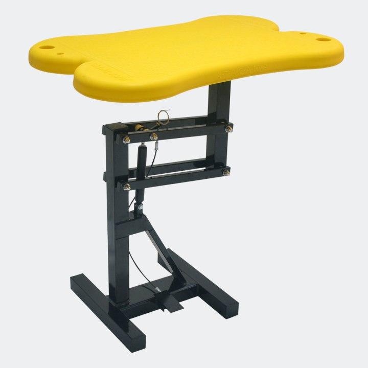 mesa-de tosa-para-pet-shoppneumatica-amarela