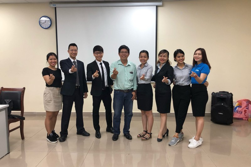 Lectures of University of Architecture Ho Chi Minh City took photo with ATAD team