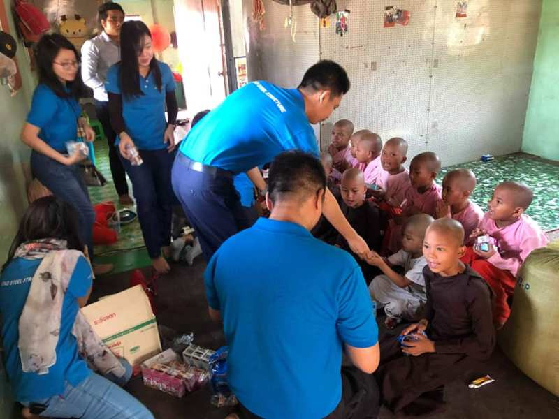ATAD Myanmar team presented gifts to underprivileged children and the elderly 3