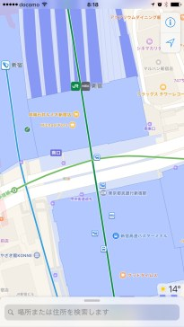 Apple transit view of Shinjuku south exit area has some exit information but no indoor mapping details yet.