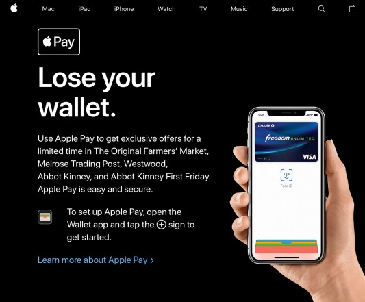 Apple Pay Lose Wallet Campaign USA