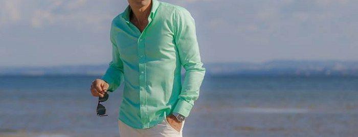 man wearing green shirt