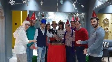 Özel çocuklardan yeni yıl partisi