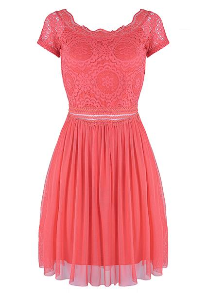 Sukienka hiszpanka koronkowa z tiulowym dołem