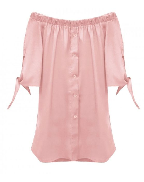 Koszula hiszpanka wiązan różowa