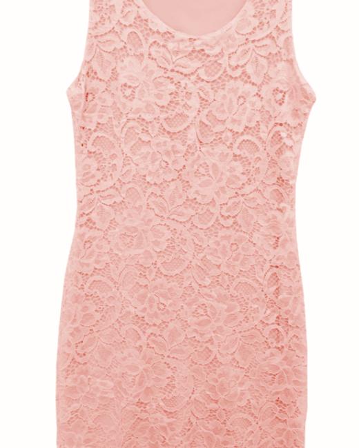 sukienka koronkowa lososiowa