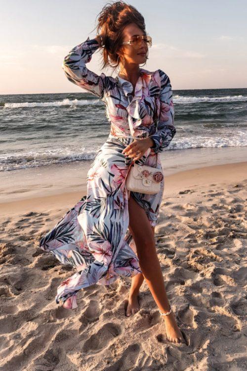 sukienka maxi-z-falbanka dlugim rekawem atalantastyle biale kwiaty 2