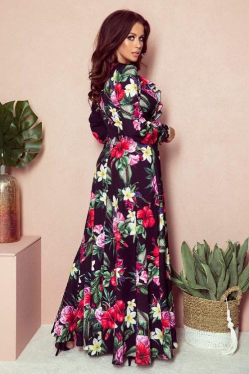 sukienka maxi-z-falbanka dlugim rekawem atalantastyle