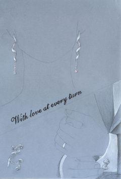 Twist earrings and matching cufflink rendering by Joana Miranda