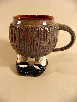 """Mary Janes """"Footed Mug"""" by Sharon Miranda"""