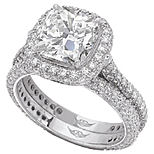 "Martin Flyer ""Flyerfit Micro-Pave Diamond Halo Setting"" Ring Set"