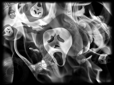 faces in smoke