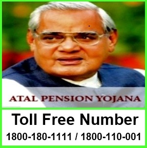 Toll Free Numbers for Atal Pension Yojana