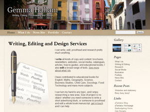 Gemma Hallam – Writing, Editing Writing, Editing , Proofreading and Design